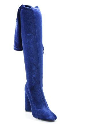 Public Desire Overknees dunkelblau extravaganter Stil