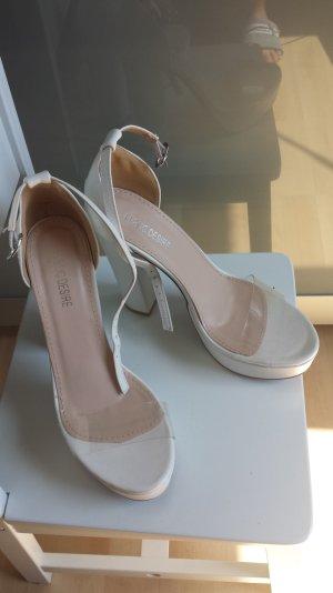 Public Desire Platform High-Heeled Sandal white-nude