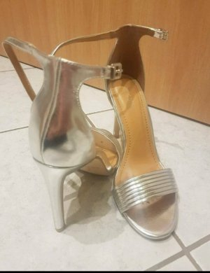 Public Desire Sandalen Sandaletten, High Heels, 38, Silber, 1xget