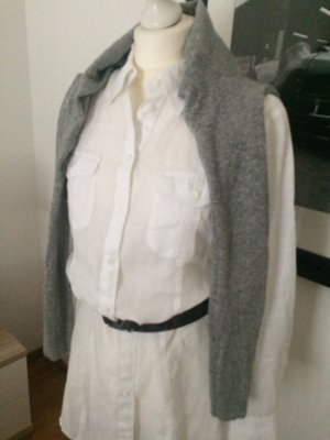 Public Blusa in lino bianco Lino