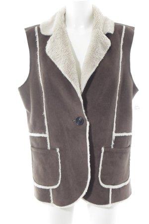 Public Vest van imitatiebont bruin-room casual uitstraling