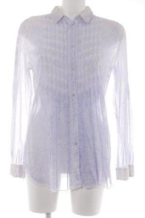 Public Long Sleeve Blouse purple-white street-fashion look