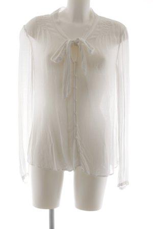 Public Langarm-Bluse weiß Elegant