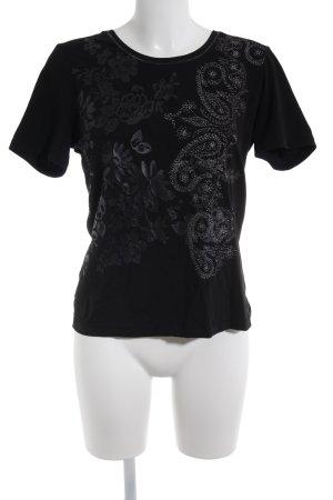 Public T-Shirt schwarz platzierter Druck Casual-Look