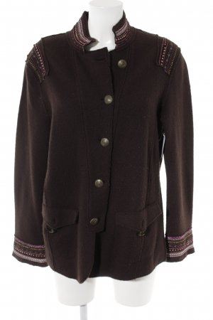 Public Wool Jacket dark brown-brown violet casual look
