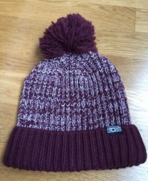 Converse Bobble Hat bordeaux-cream