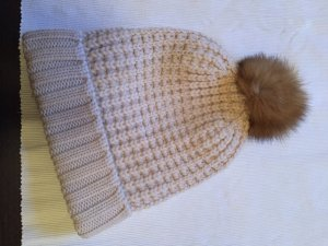 Woolrich Bobble Hat beige-cream