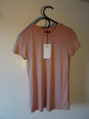 Puder-farbenes T-Shirt von Zara, Gr. S/36 - Neu mit Etikett