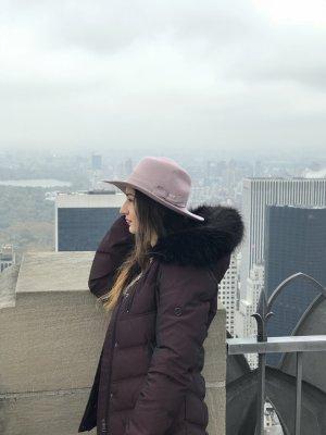 Accessorize Vilten hoed roségoud-rosé