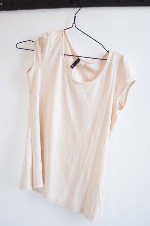 Puderfarbenes leichtes T-Shirt