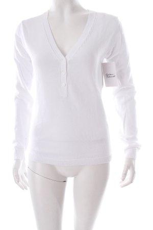 Puebla Pull tricoté blanc style simple
