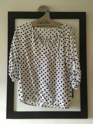 Esprit Blusa blanco-negro