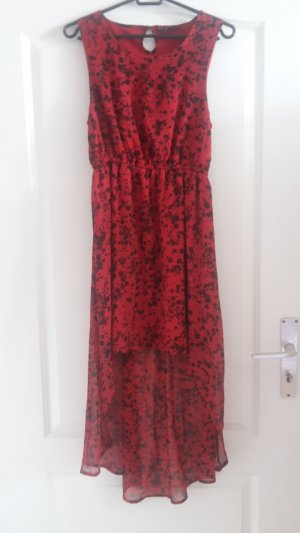 Even & Odd Hippie Dress black-dark red polyester