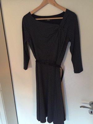 s.Oliver Midi-jurk wit-donkerblauw