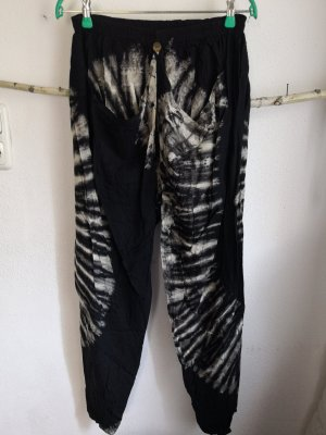 Wollen broek wit-zwart