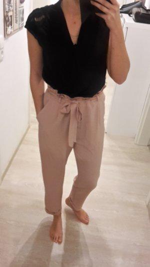 Pull & Bear Pantalón estilo Harem rosa empolvado-rosa