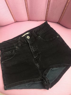 Pull and Bear Hotpants Shorts Hose 34 neu schwarz Jeans Jeansshorts