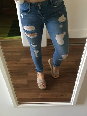 Pull and bear Jeans destroyed Löcher skinny Summer