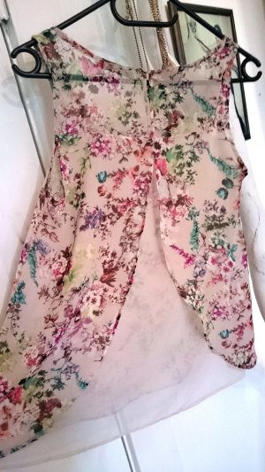 Pull and Bear transparente Sommer Bluse Blüten Print