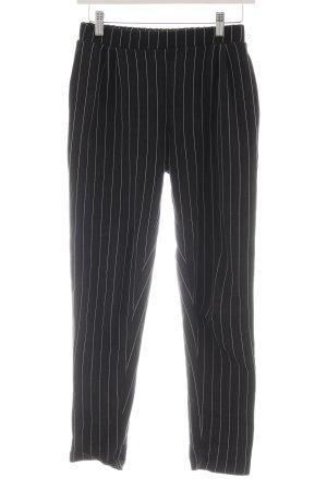 Pull & Bear 7/8-Hose schwarz-wollweiß Streifenmuster Business-Look
