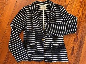 Pull & Bear Blazer in maglia bianco-blu scuro