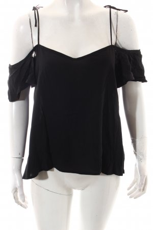 Pull & Bear Bluse schwarz Casual-Look