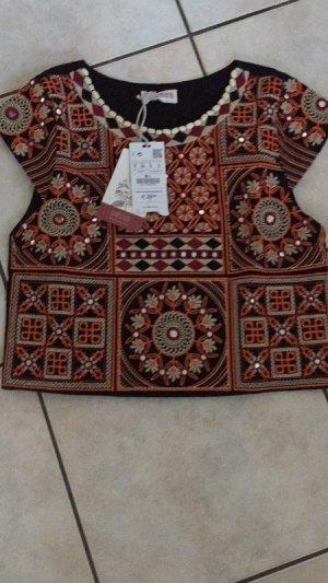 Pull & Bear Boho Crop Top neu Handmade