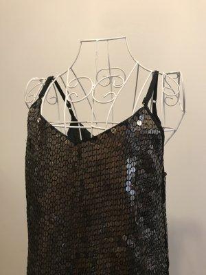 Pull&Bear - Braun Gold schimmerndes Paillettenkleid