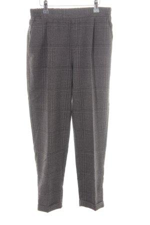 Pull & Bear Pantalone a pieghe grigio scuro-grigio chiaro motivo a quadri