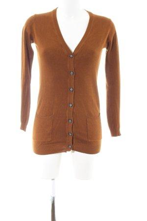 Pull & Bear Cardigan licht Oranje casual uitstraling