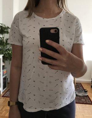 Pull&Bear Casual T-Shirt, Pfeilmotive, Indianer, Ethno, Boho, Sommer, Trend