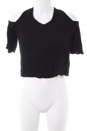 Pull & Bear Cut-Out-Top schwarz Casual-Look