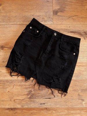 pull&bear Destroyed Ripped Jeans Rock schwarz Gr. M