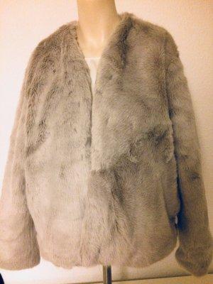Pull & Bear Chaqueta de piel multicolor Fibra sintética