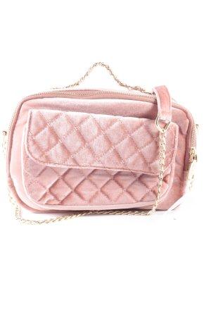 Pull & Bear Handtasche altrosa Steppmuster Street-Fashion-Look