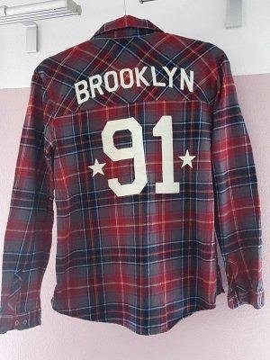 Pull & Bear Hemd mit Rückenschriftzug Gr. S