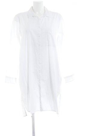 Pull & Bear Hemdblusenkleid weiß minimalistischer Stil