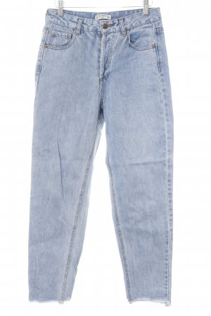 Pull & Bear High Waist Jeans blau Jeans-Optik
