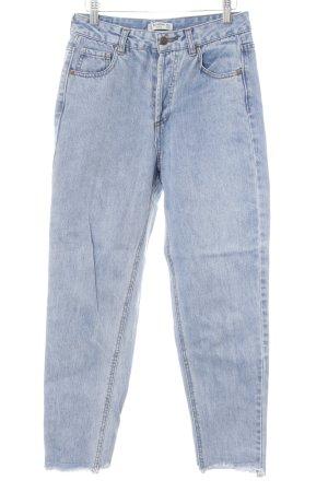 Pull & Bear High Waist Jeans blau Jeans-Optik