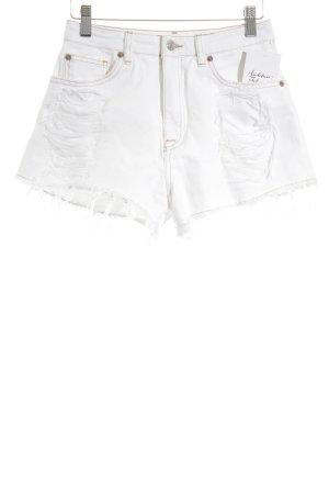 Pull & Bear Hoge taille jeans wolwit stedelijke stijl