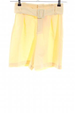 Pull & Bear High-Waist-Shorts hellgelb Casual-Look