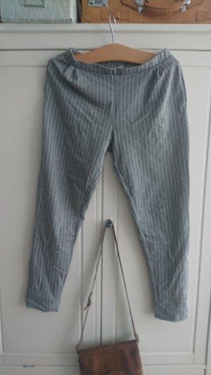 Pull & Bear Linen Pants white-grey