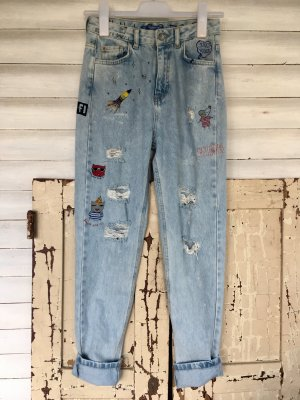 Pull & Bear Hoge taille jeans azuur