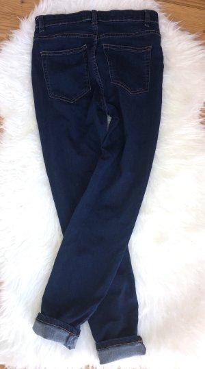 Pull & Bear Hoge taille broek donkerblauw