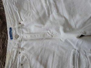 PULL & BEAR Jeans  Grösse 36 weiss hoher Bund