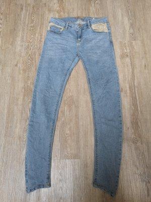 Pull&Bear Jeans Hellblau blau 36 beige skinny low waist