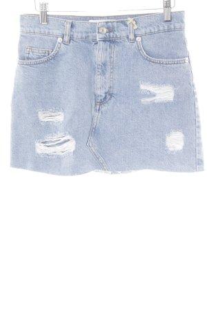 Pull & Bear Jeansrock kornblumenblau meliert Jeans-Optik