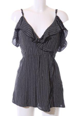 Pull & Bear Jumpsuit schwarz-weiß Streifenmuster Casual-Look