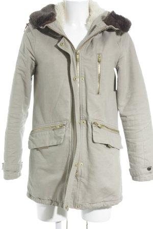 Pull & Bear Manteau à capuche beige clair-brun foncé style simple