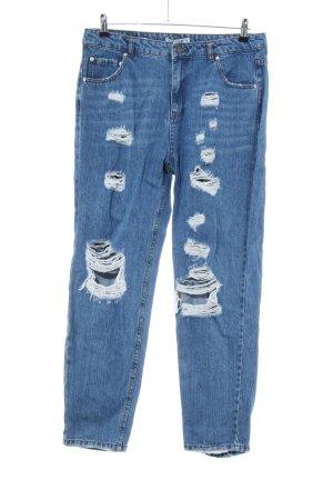 Pull & Bear Jeans a carota blu stile da moda di strada